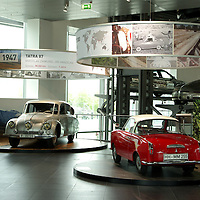 1947 Tatra 87 with 1961 Goggomobil Coupe TS300, Audi Museum 'Until the End of the World', Ingolstadt Germany 2008