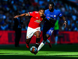 Luis Antonio Valencia of Manchester United is challenged by Tiemoue Bakayoko of Chelsea - Rogan/JMP - 19/05/2018 - FOOTBALL - Wembley Stadium - London, England - Chelsea v Manchester United - FA Cup Final.