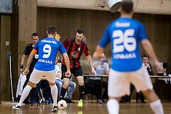 during futsal match between FC Litija and FC Dobovec Pivovarna Kozel in Final of 1.SFL 2017/18, on May 18, 2018 in Sports hall Litija, Litija, Slovenia. Photo by Urban Urbanc / Sportida