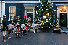 2014-12-15 Reindeer greet children at Downing Street Christmas party