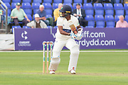 Kraigg Brathwaite batting during the Specsavers County Champ Div 2 match between Glamorgan County Cricket Club and Leicestershire County Cricket Club at the SWALEC Stadium, Cardiff, United Kingdom on 16 September 2019.