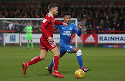 Tyler Denton of Peterborough United in action against Accrington Stanley - Mandatory by-line: Joe Dent/JMP - 29/12/2018 - FOOTBALL - Wham Stadium - Accrington, England - Accrington Stanley v Peterborough United - Sky Bet League One