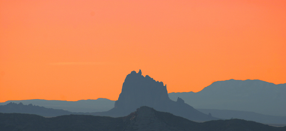 Shiprock, located in northwestern New Mexico, is an impressive example of a volcanic neck. This volcanic formation has several Navajo legends attached to it.