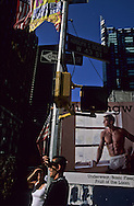 New York. times square. Advertising bilboards in  Times square area   New York  Usa /  affiches publicitaires .  Times square en renovation   New York  USa /