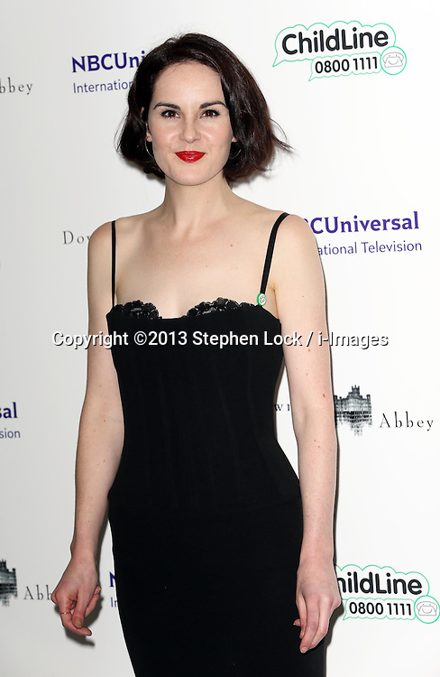 Michelle Dockery arriving at the Downton Abbey ChildLine Ball in London, Thursday, 24th October 2013. Picture by Stephen Lock / i-Images