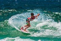 American pro surfer Evan Geiselman competing in the Australian Open of Surfing, Manly Beach, Sydney, New South Wales, Australia
