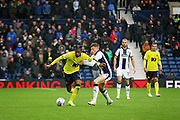 Blackburn Rovers midfielder Kasey Palmer (45)  and West Bromwich Albion midfielder Harvey Barnes (15)  during the EFL Sky Bet Championship match between West Bromwich Albion and Blackburn Rovers at The Hawthorns, West Bromwich, England on 27 October 2018.