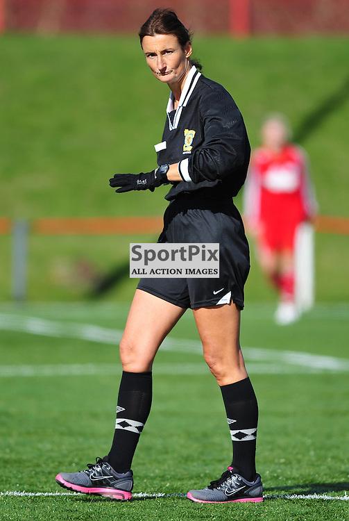 Referee Mathilde Peace..Hibernian v Inverness City, Scottish Women's Premier League, 18 March 2012
