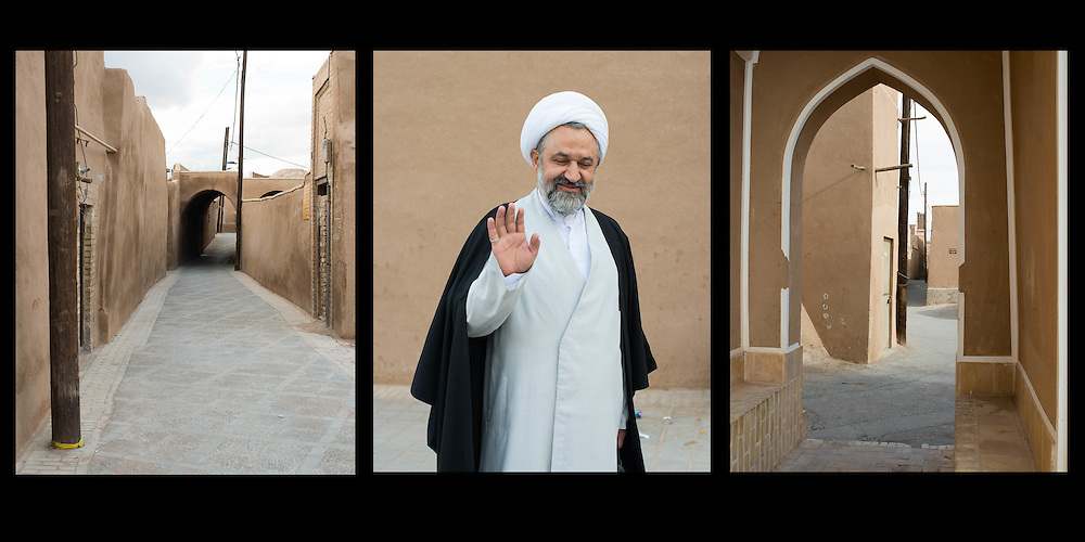 Portrait of a Mullah in a triptych