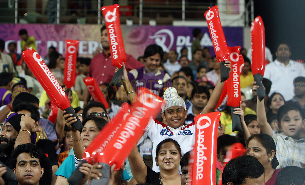 Crowd during match 37 of the Indian Premier League ( IPL ) between the Kolkata Knight Riders and the Royal Kings XI Punjab held at Eden Gardens Cricket Stadium in Kolkata, India on the 30th April 2011..Photo by Money Sharma/BCCI/SPORTZPICS