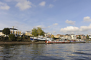 London GREAT BRITAIN, General Views,  Chiswick Pier, River Thames, [Photo, Peter Spurrier/Intersport-images] ..