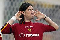 Roma 22/2/2004 <br />Roma Siena 6-0 <br />Marco Delvecchio festeggia il quinto gol della Roma mostrando le orecchie ai tifosi che lo avevano fischiato al suo ingresso in campo<br />Marco Delvecchio celebrates his goal of 5-0 for roma<br />Photo Andrea Staccioli Graffiti