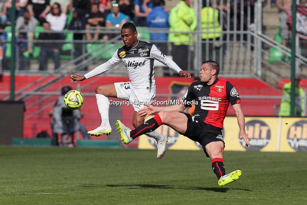 Christophe MANDANNE / Sylvain ARMAND - 12.04.2015 - Rennes / Guingamp - 32eme journee de Ligue 1 <br />Photo : Vincent Michel / Icon Sport