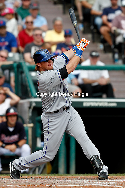 March 5, 2011; Lake Buena Vista, FL, USA; New York Mets second baseman Justin Turner (2) during a spring training exhibition game against the Atlanta Braves at Disney Wide World of Sports complex.  Mandatory Credit: Derick E. Hingle