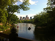 Central Park, New York City, with lake in summer