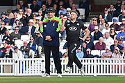 Stuart Meaker (Surrey) in action during the Royal London 1 Day Cup match between Surrey County Cricket Club and Kent County Cricket Club at the Kia Oval, Kennington, United Kingdom on 12 May 2017. Photo by Jon Bromley.