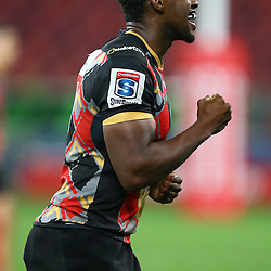 PORT ELIZABETH, SOUTH AFRICA - MAY 27: Wandile Mjekevu of the Southern Kings during the Super Rugby match between Southern Kings and Jaguares at Nelson Mandela Bay Stadium on May 27, 2016 in Port Elizabeth, South Africa. (Photo by Steve Haag/Gallo Images)