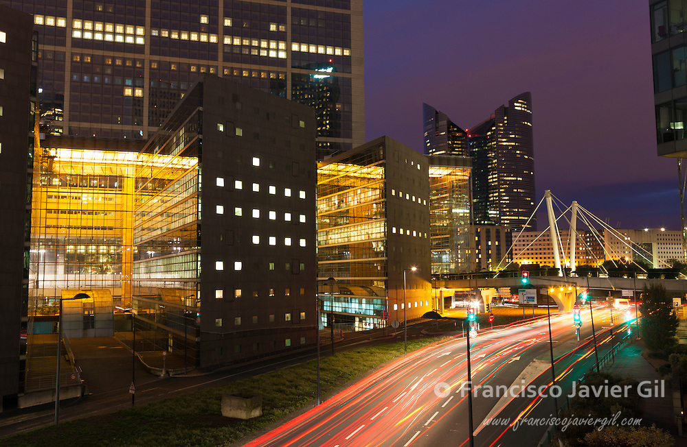 Architecture of La defense, Paris, Ile-de-france, France