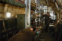 13 OCT 1999, BERLIN/GERMANY:<br /> Inneraum einer Transall C-160 der Luftwaffe in der Sonderkonfiguration Medical Evacuation wie sie in Ost-Timor eingesetzt werden soll, Militärischer Teil Flughafen Berlin-Tegel<br /> IMAGE: 19991013-01/01-27<br /> KEYWORDS: Bundeswehr, Flugzeug, plane,