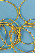 gold elastic band