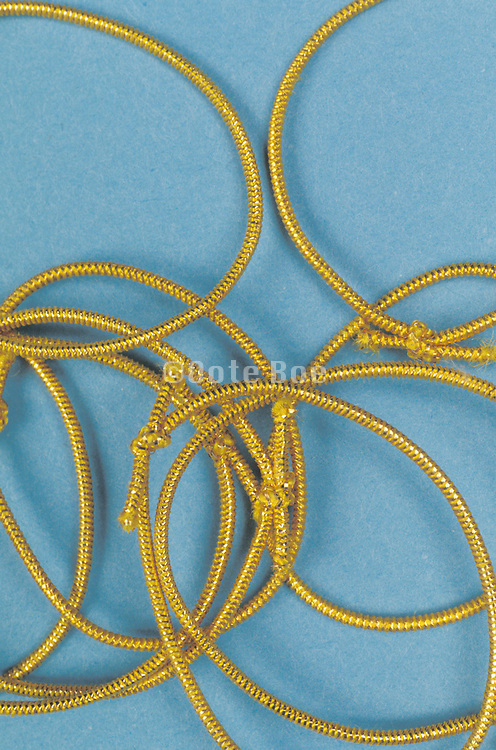 gold elastic band