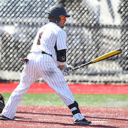 Sean Lyons #1 of the Northeastern Huskies steps up to the plate during the game at Friedman Diamond on March 16, 2014 in Brookline, Massachusetts. (Photo by Elan Kawesch)
