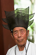Seoul Nori Madang open-air folcloric theatre. Man with horse hair hat.