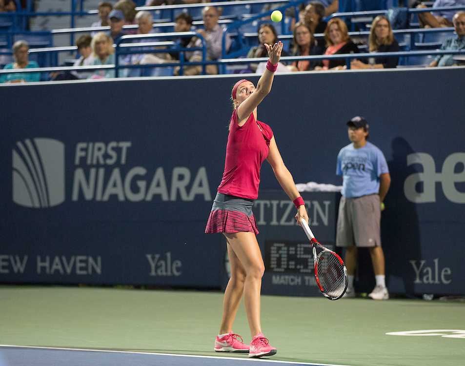 August 22, 2014, New Haven, CT:<br /> Stadium signage the semi-final match between Petra Kvitova and Samantha Stosur on day eight of the 2014 Connecticut Open at the Yale University Tennis Center in New Haven, Connecticut Friday, August 22, 2014.<br /> (Photo by Billie Weiss/Connecticut Open)