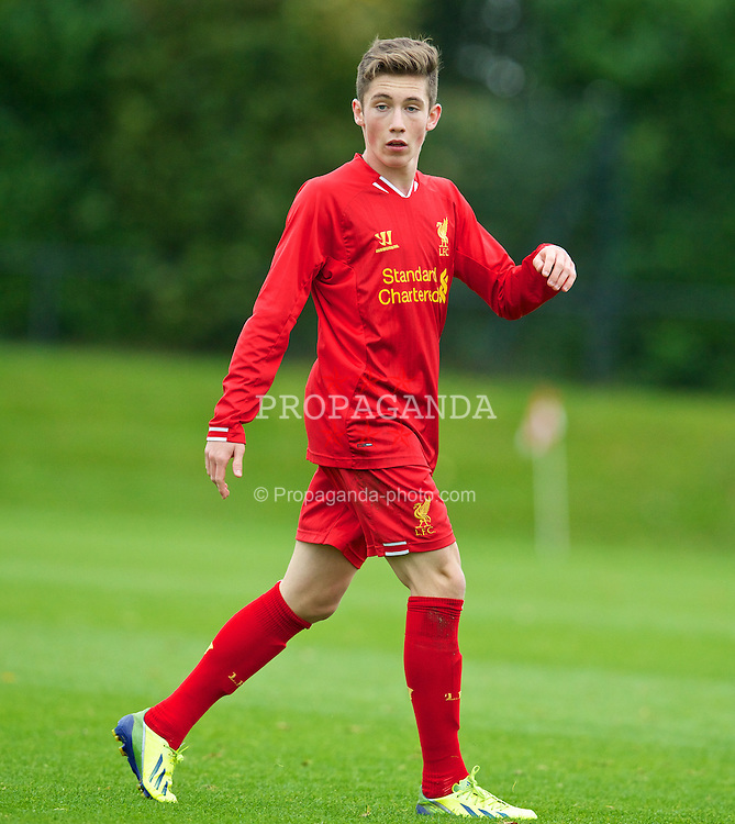 LIVERPOOL, ENGLAND - Saturday, October 26, 2013: Liverpool's Harry Wilson in action against Southampton during the Premier League Academy match at the Kirkby Academy. (Pic by David Rawcliffe/Propaganda)