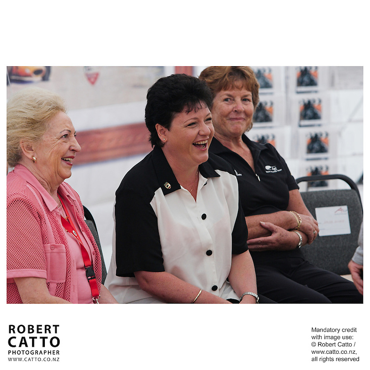 Pat McLaren;Amanda McLaren;Anita Hulme at the Launch of the Bruce McLaren Movie project at the A1 Grand Prix of New Zealand at the Taupo Motorsport Park, Taupo, New Zealand.