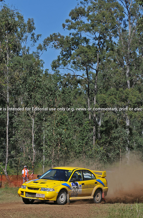 John GOASDOUE & Craig LEE - Mitsubishi Lancer Evo 6.Heat 1.Red Devil Energy Drink Rally of Queensland.Sunshine Coast, QLD.10th of May 2009.(C) Joel Strickland Photographics.Use information: This image is intended for Editorial use only (e.g. news or commentary, print or electronic). Any commercial or promotional use requires additional clearance.
