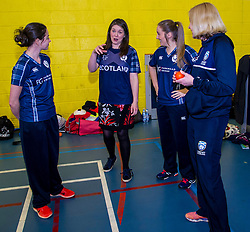 Pictured: Abbi Aitken (Montrose and Scotland), Aileen Campbell, Oli Rae (Edinburgh and Scotland) and NIcola Wilson (CS women's participation manager) <br /> Aileen Campbell MSP (Minister for Public Health and Sport) joined Abbi Aitken (Scotland captain) Steve Knox (Scotland women's coach), Nicola Wilson (CS women's participation manager) and Oli Rae (opener for Edinburgh and Scotland) today at Edinburgh' Fettes College to promote women's cricket ahead of the national team's trip to Sri Lanka for the ICC Women's World Cup Qualifier (in Sri Lanka) on 29 January. <br /> Ger Harley | EEm 24 January 2017