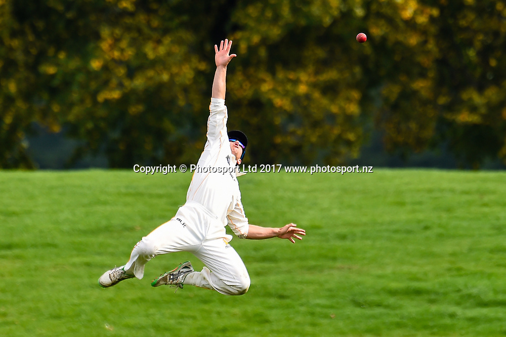 Fraser Colson of the Wellington Firebirds field the ball during Day4 of the Plunket Shield cricket game, Canterbury V Wellington, Hagley Oval, Christchurch, New Zealand, 1st April 2017.Copyright photo: John Davidson / www.photosport.nz