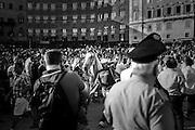 The Tartuca horse in the Piazza del Campo