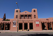 Institute of American Indian Arts Museum in form of a Traditional adobe house in Santa Fe, New Mexico, USA