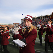 Harvard band members providing half time entertainment during the Harvard Vs Yale, College Football, Ivy League deciding game, Harvard Stadium, Boston, Massachusetts, USA. 22nd November 2014. Photo Tim Clayton
