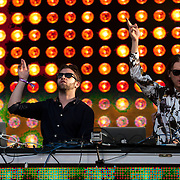 May 17, 2013 - Queens, NY :  The Canadian electronic music duo Zeds Dead perform during the first day of the 2013 New York 'Electric Daisy Carnival,' an electronic dance music festival, at Citi Field in Queens, on Friday. CREDIT: Karsten Moran for The New York Times CREDIT: Karsten Moran for The New York Times