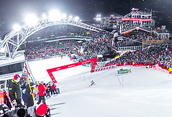 "29.01.2019, Planai, Schladming, AUT, FIS Weltcup Ski Alpin, Slalom, Herren, im Bild Uebersicht Zielstadion // General View of the finishing area during the men's Slalom ""the Nightrace"" of FIS ski alpine world cup at the Planai in Schladming, Austria on 2019/01/29. EXPA Pictures © 2019, PhotoCredit: EXPA/ JFK"