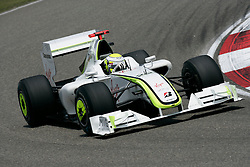 SHANGHAI, CHINA - Saturday, April 18, 2009: Jenson Button (GBR, Brawn GP) during qualifying for the Formula One Grand Prix of China at the Shanghai International Circuit. (Pic by Michael Kunkel/Hoch Zwei/Propaganda)