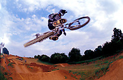 BMXer, Toby Forte, getting some air, doing a jump,