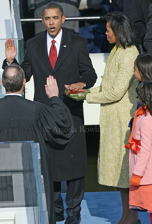 Barack Obama is sworn in as 44th president of the United States at the Capitol, Tuesday,  January 20, 2009.