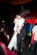 MISS LAMORE;  Premiere of 'The British Guide to Showing Off' Jes Benstock's documantary on Andrew Logan's life and 12 Alternative Miss World's. Prince Charles cinema, Leicester Place. London and afterward's at Moonlighting, Greek St. London. 6 November 2011. <br /> <br />  , -DO NOT ARCHIVE-© Copyright Photograph by Dafydd Jones. 248 Clapham Rd. London SW9 0PZ. Tel 0207 820 0771. www.dafjones.com.