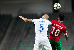Aljaz Struna of Slovenia and Ivelin Popov of Bulgaria during football match between National teams of Slovenia and Bulgaria in Group stage of UEFA Nationals League, on September 6, 2018 in SRC Stozice, Ljubljana, Slovenia. Photo by Urban Urbanc / Sportida