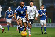 Chesterfield forward Chris O'Grady runs for the ball during the EFL Sky Bet League 2 match between Chesterfield and Luton Town at the Proact stadium, Chesterfield, England on 13 January 2018. Photo by Aaron  Lupton.