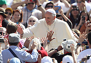 May 21, 2014 - Vatican City State (Holy See) - <br /> <br /> POPE FRANCIS during his wednesday general audience in St. Peter's Square at the Vatican. <br /> ©Exclusivepix