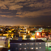 rooftops over Venice Beach, Los Angeles photgraphed from the rooftop bar of Hotel Erwin.