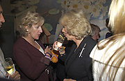 Annabel Elliot and Camilla Parker Bowles, Tom Parker Bowles, Susan Hill and Matthew Rice host party to launch 'E is For Eating' Kensington Place. 3 November 2004.  ONE TIME USE ONLY - DO NOT ARCHIVE  © Copyright Photograph by Dafydd Jones 66 Stockwell Park Rd. London SW9 0DA Tel 020 7733 0108 www.dafjones.com
