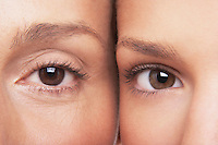 Two women's eyes side by side