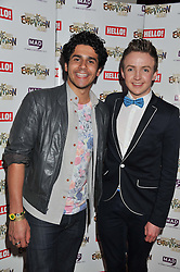 Left to right, LIAM TAMNE and JORDAN LEE DAVIES at West End Eurovision 2013 held at the  Dominion Theatre, London on 23rd May 2013.