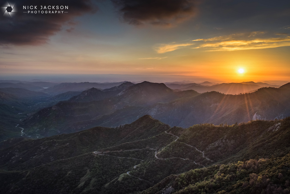It's a long hike with camera equipment to the top of Moro Rock but the view from there is spectacular. As the sun slowly sets you can watch tiny cars make their way up the winding roads.